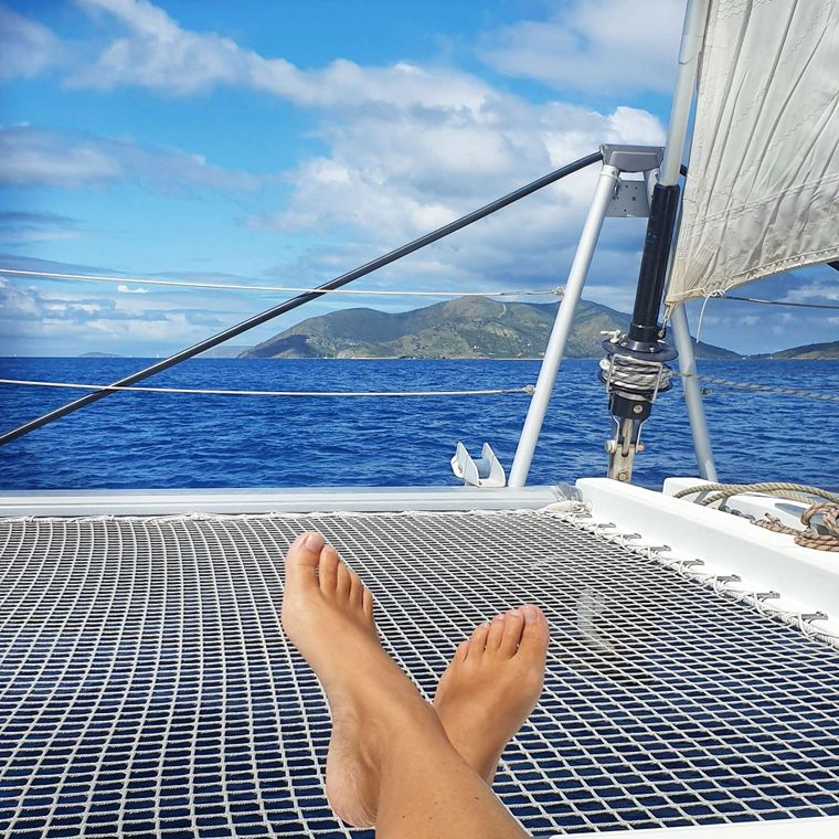 MISS SUMMER Yacht Charter - Lounging on the foredeck