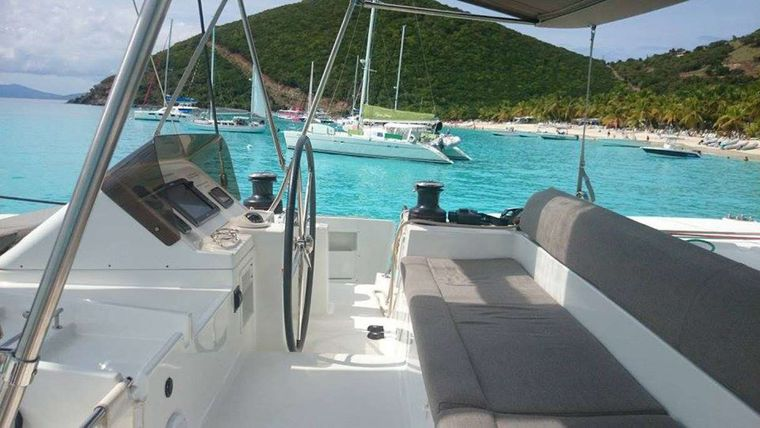 MISS SUMMER Yacht Charter - Flybridge seating & helm