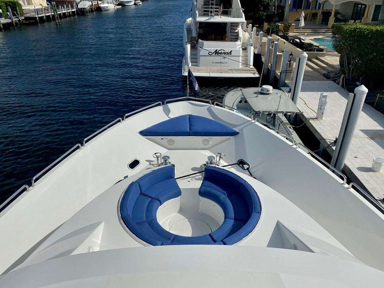 NOW OR NEVER Yacht Charter - Bow Seating