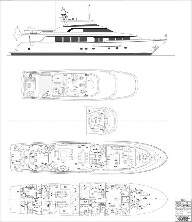 NOW OR NEVER Yacht Charter - Layout
