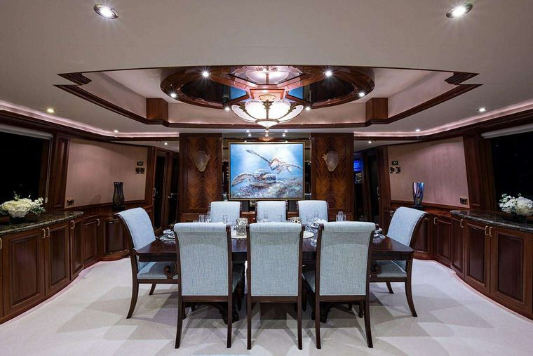 NOW OR NEVER Yacht Charter - Formal Dining