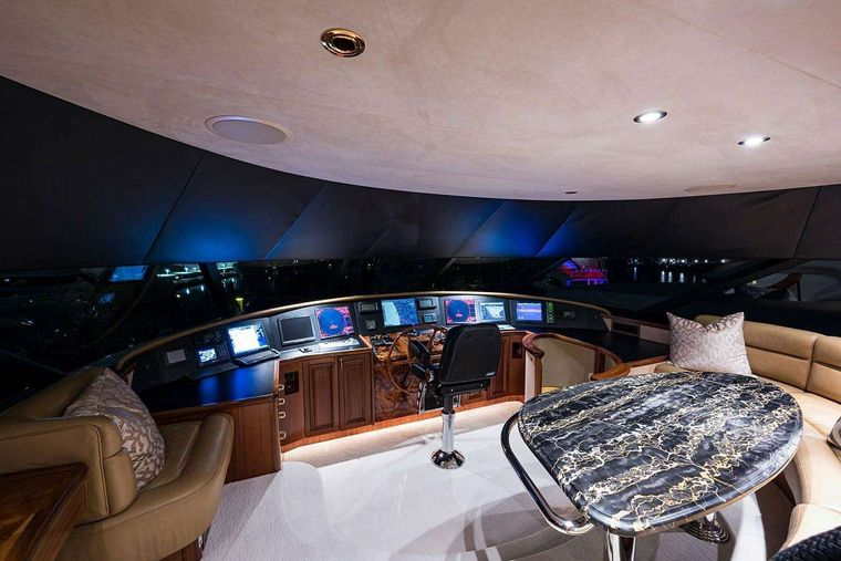 NOW OR NEVER Yacht Charter - Pilothouse