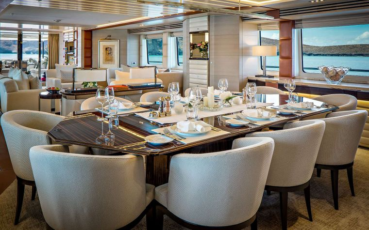 ODYSSEA Yacht Charter - Formal Dining