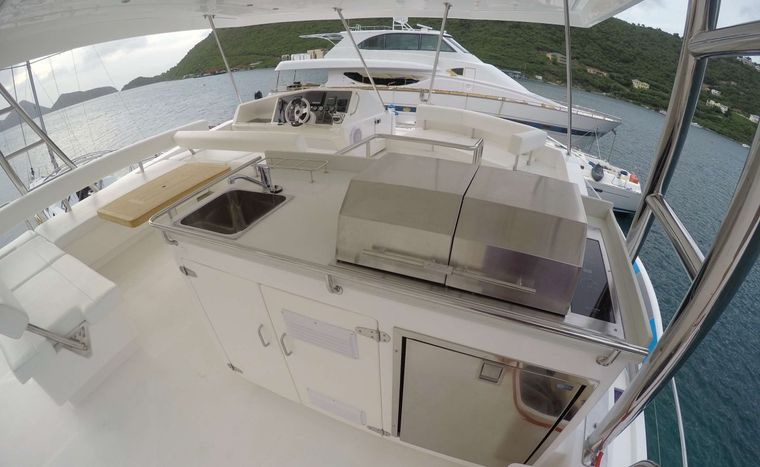 SOMEWHERE HOT Yacht Charter - Flybridge with BBQ area