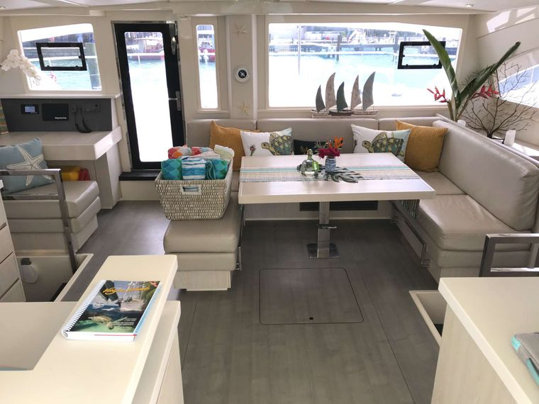 SOMEWHERE HOT Yacht Charter - The yacht features a spacious saloon
