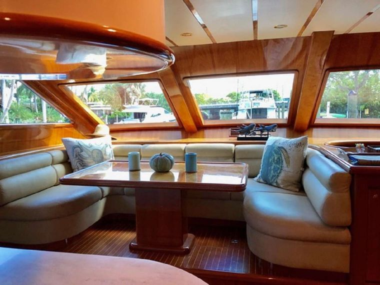 TORTUGA Yacht Charter - Galley dining