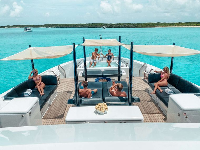 OCULUS Yacht Charter - Sun Deck with Jacuzzi