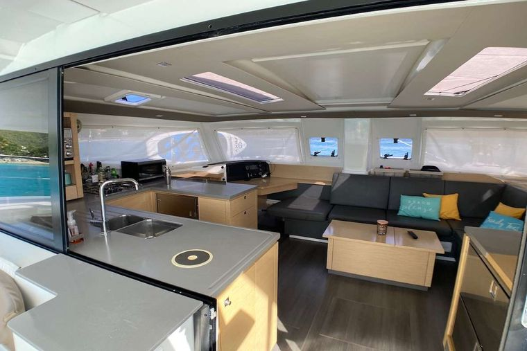 IREMIA Yacht Charter - Salon and Galley