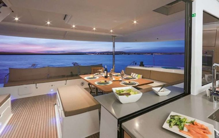 LIBRA 50 Yacht Charter - Cockpit Dining Area