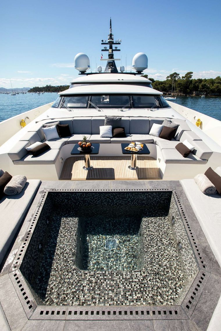 Gems II Yacht Charter - bow area with jacuzzi