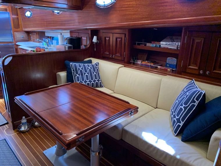 FALCON Yacht Charter - Formal Dining Area
