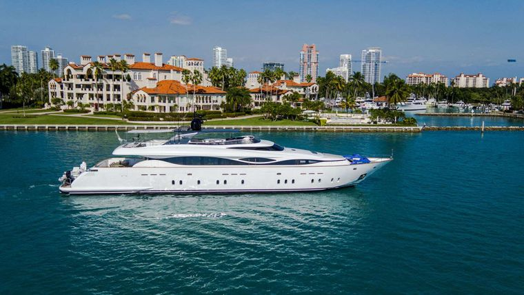 WHITE KNIGHT Yacht Charter - Aerial view