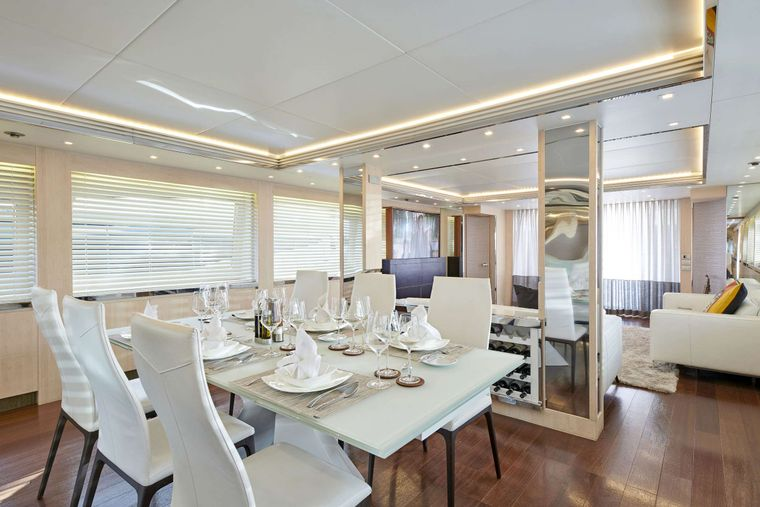 WHITE KNIGHT Yacht Charter - Dining 2
