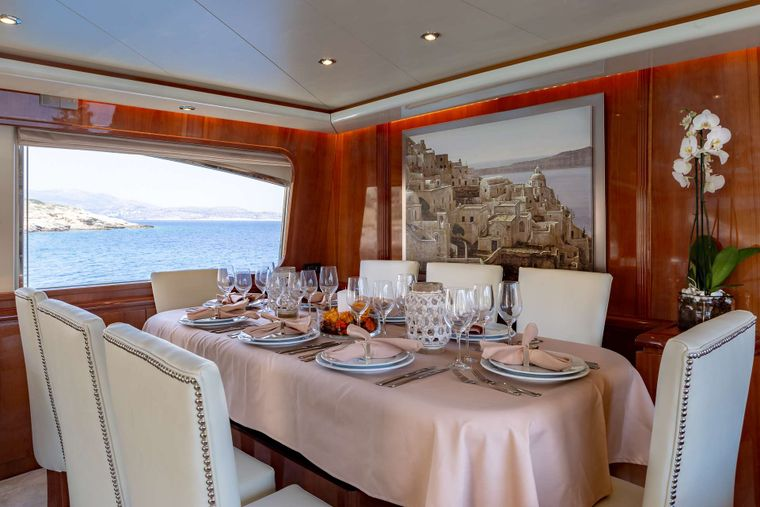 EFMARIA Yacht Charter - Dining Area