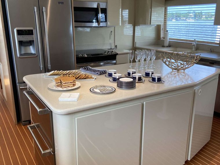 LADY GRAY Yacht Charter - Galley