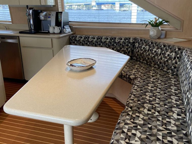LADY GRAY Yacht Charter - Galley Dining