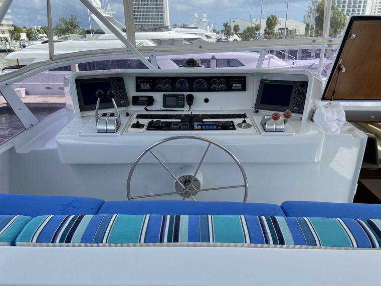 LADY GRAY Yacht Charter - Flybridge Helm Station