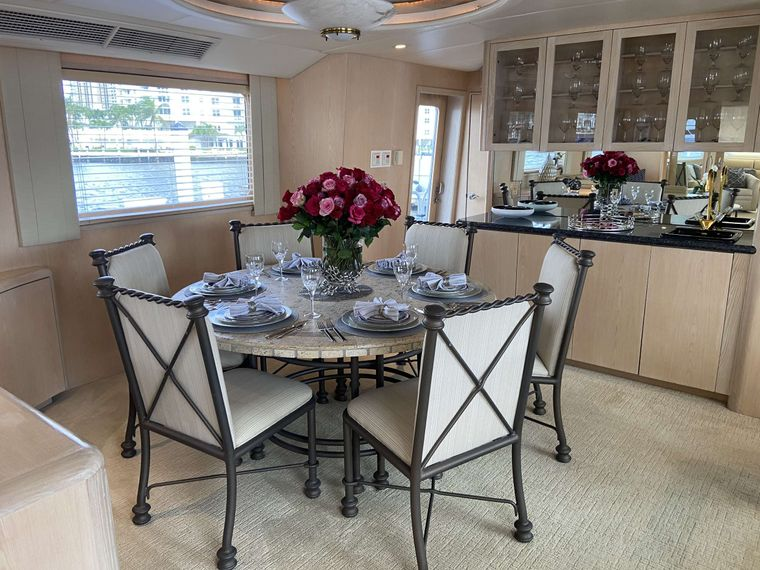 LADY GRAY Yacht Charter - 6 Guest Seated Dining