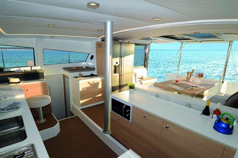 Sunshine Baby Yacht Charter - Galley to Cockpit