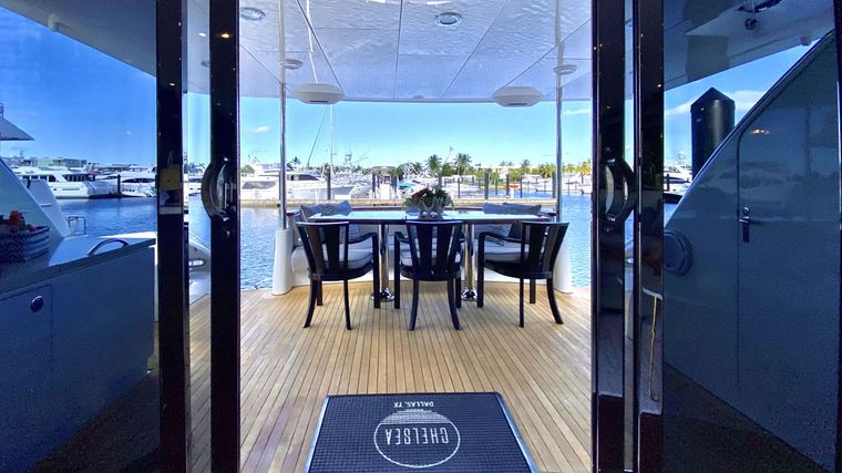 CHELSEA Yacht Charter - Aft Deck other view