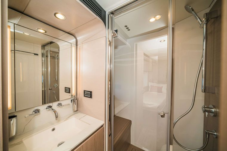 ALMOST DONE Yacht Charter - Guest Bath