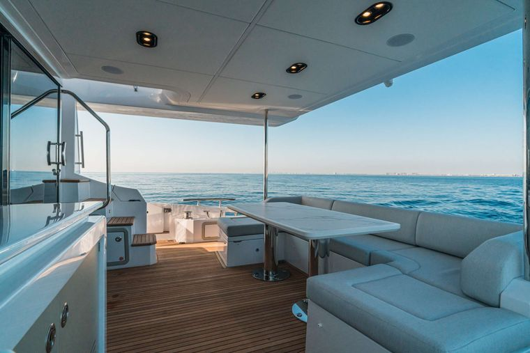 ALMOST DONE Yacht Charter - Aft Deck