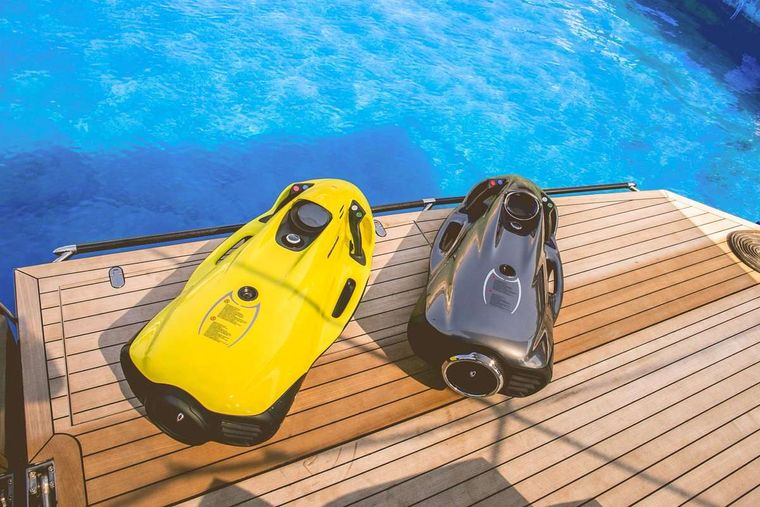 AEOLUS Yacht Charter - 2 Sea Bob Underwater Scooters for guest use
