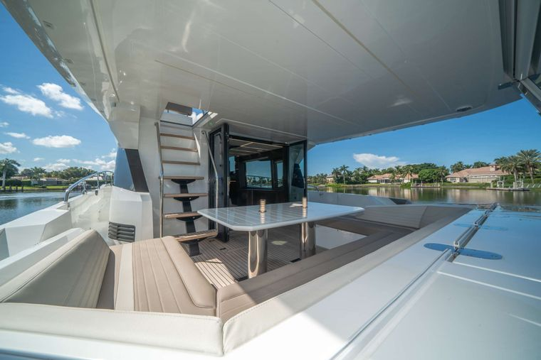 RECORD YEAR Yacht Charter - Aft Deck