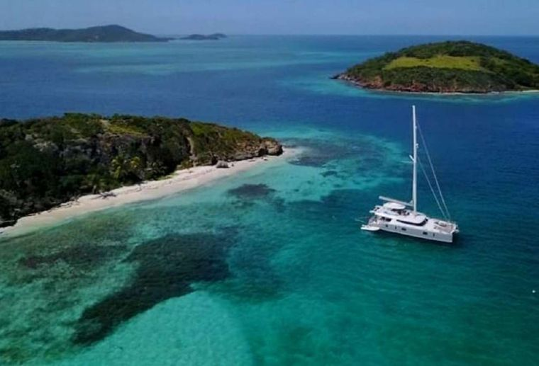 ORION Yacht Charter - At anchor