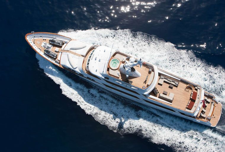 MIRAGE Yacht Charter - Aerial