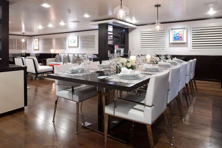 MIRAGE Yacht Charter - Formal Dining