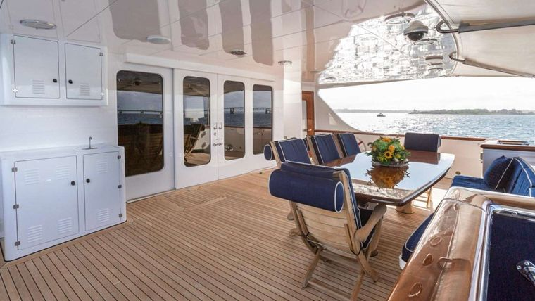 IMPETUOUS Yacht Charter - Aft Deck