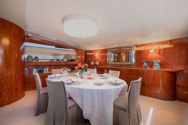 CONDOR A Yacht Charter - Dining