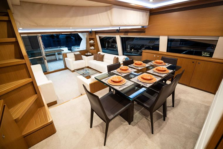 INDULGE Yacht Charter - Formal Dining/Dining Area