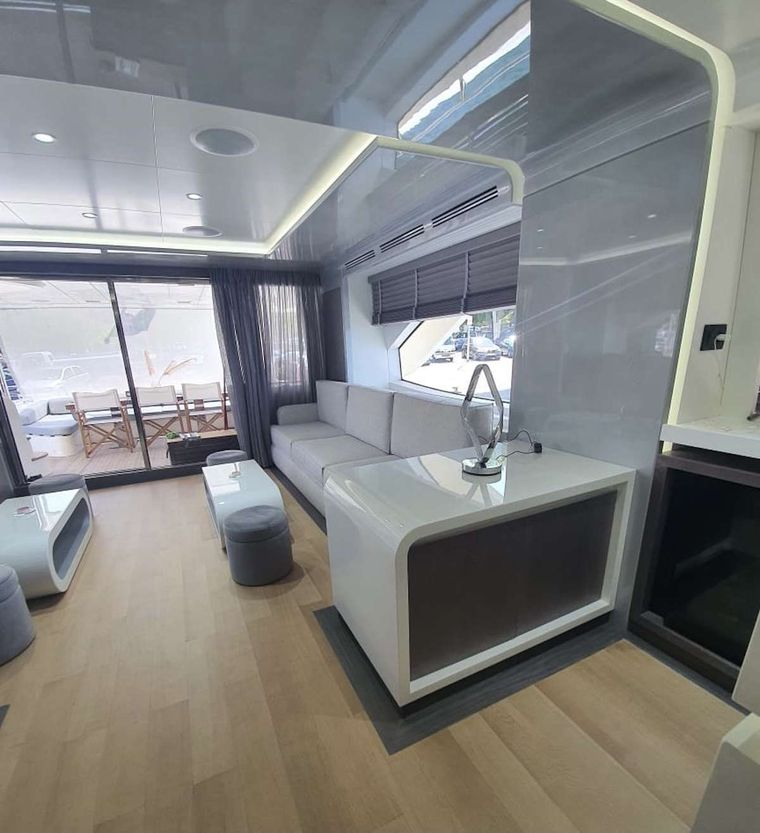 LA FENICE Yacht Charter - Saloon area other view