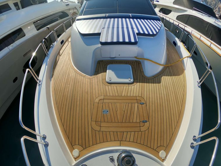 TOP SHELF Yacht Charter - Bow with lounge area