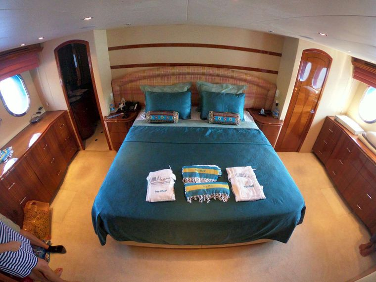 TOP SHELF Yacht Charter - Primary cabin
