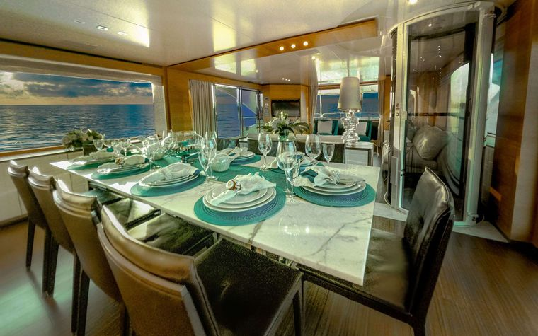 COOL BREEZE Yacht Charter - Formal Dining