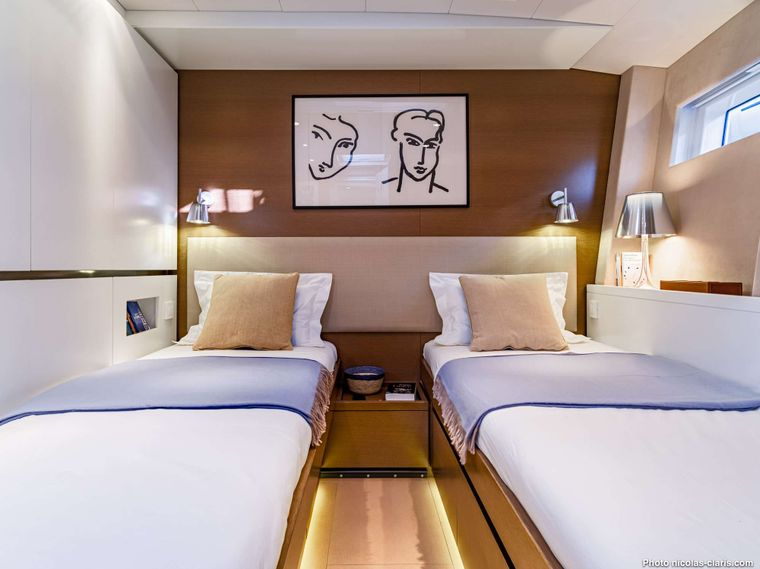 CNB76 2021 Yacht Charter - convertible twin/double cabin
