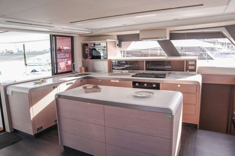 ASTORIA Yacht Charter - Large galley area