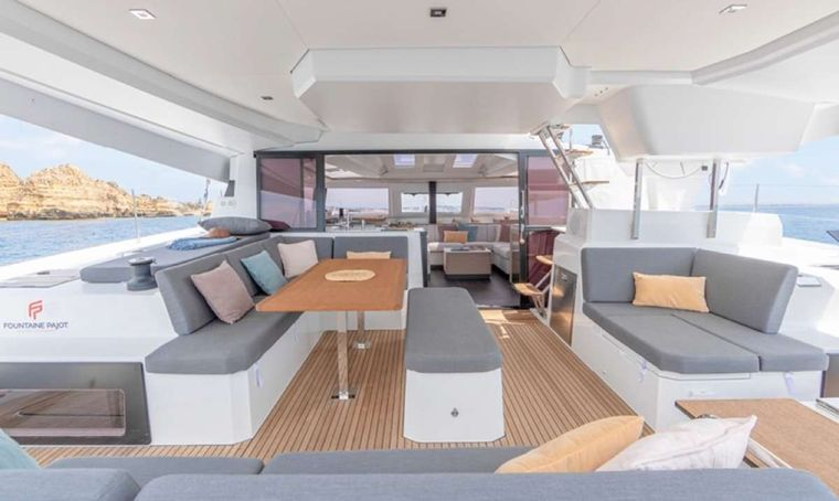 Game Changer Yacht Charter - Cockpit dining area