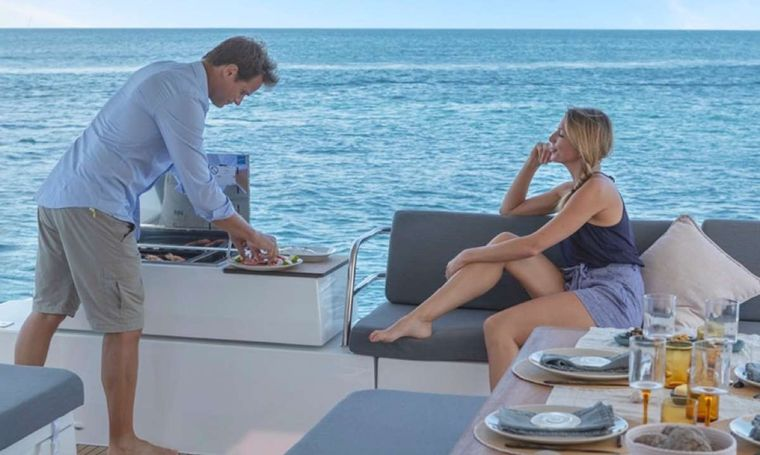 Game Changer Yacht Charter - Cockpit / BBQ