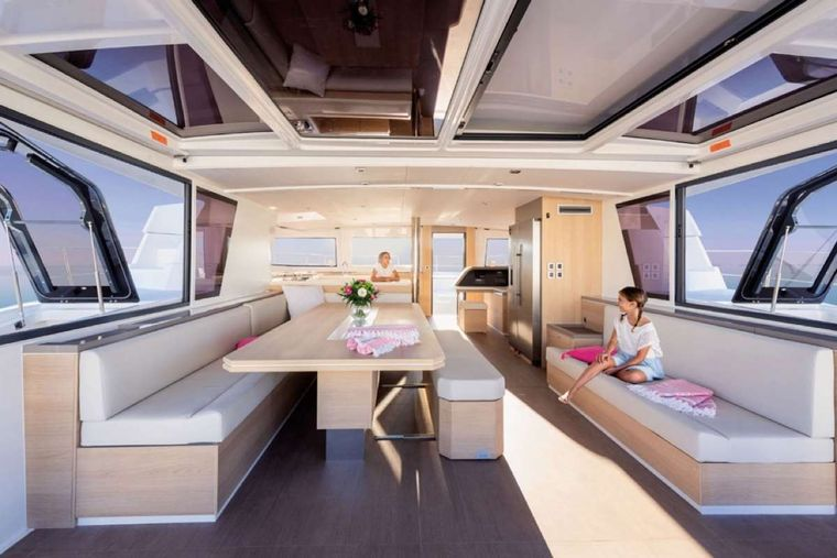 Crystal Dreams Yacht Charter - Salon to Galley