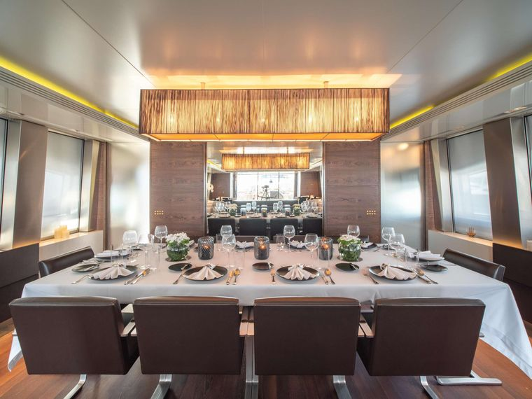 M Yacht Charter - Main Dining