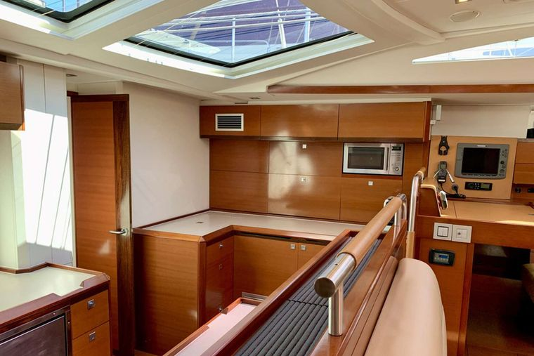 SUNBIRD Yacht Charter - Galley Storage Area