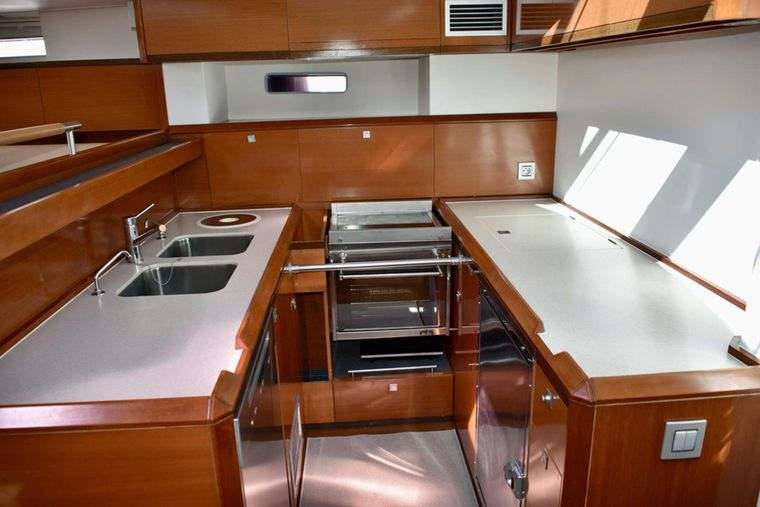 SUNBIRD Yacht Charter - New Modern galley with upgraded amenities