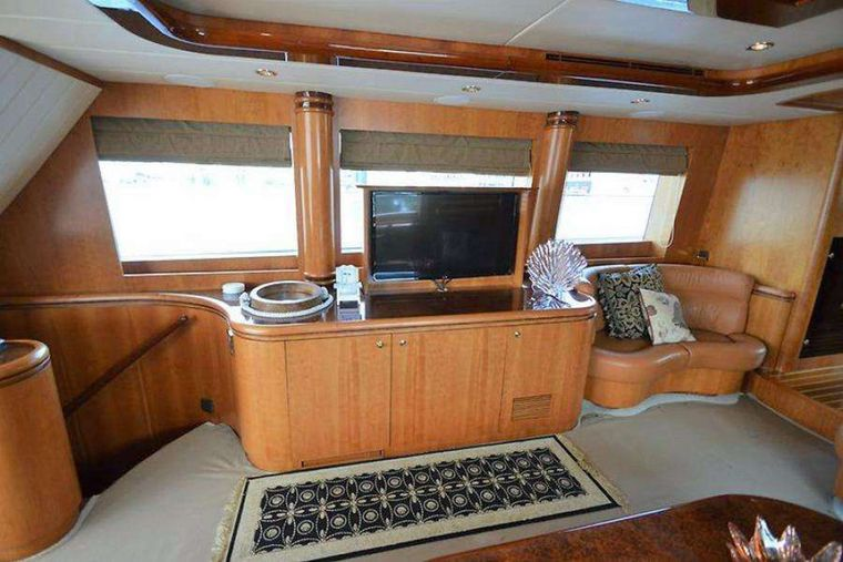 ELLA CLARE Yacht Charter - TV loung area