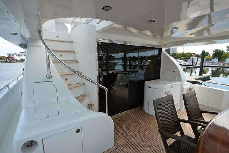ELLA CLARE Yacht Charter - Aft Deck Stairs