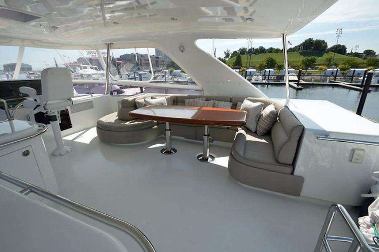 ELLA CLARE Yacht Charter - Upper Deck Seating