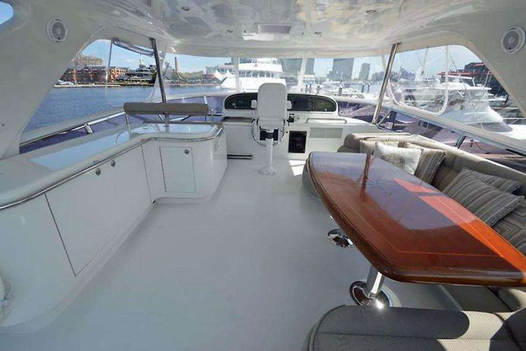 ELLA CLARE Yacht Charter - Upper Deck Seating and Helm